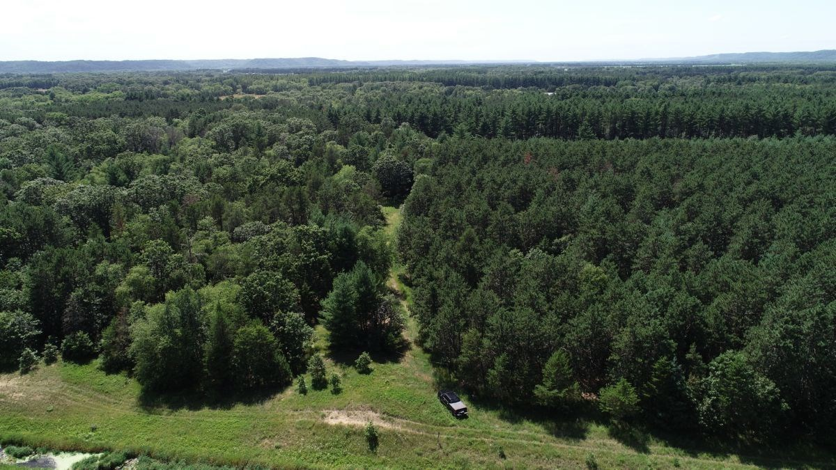 57 Wooded Acres Near Wisconsin River in Iowa County WI