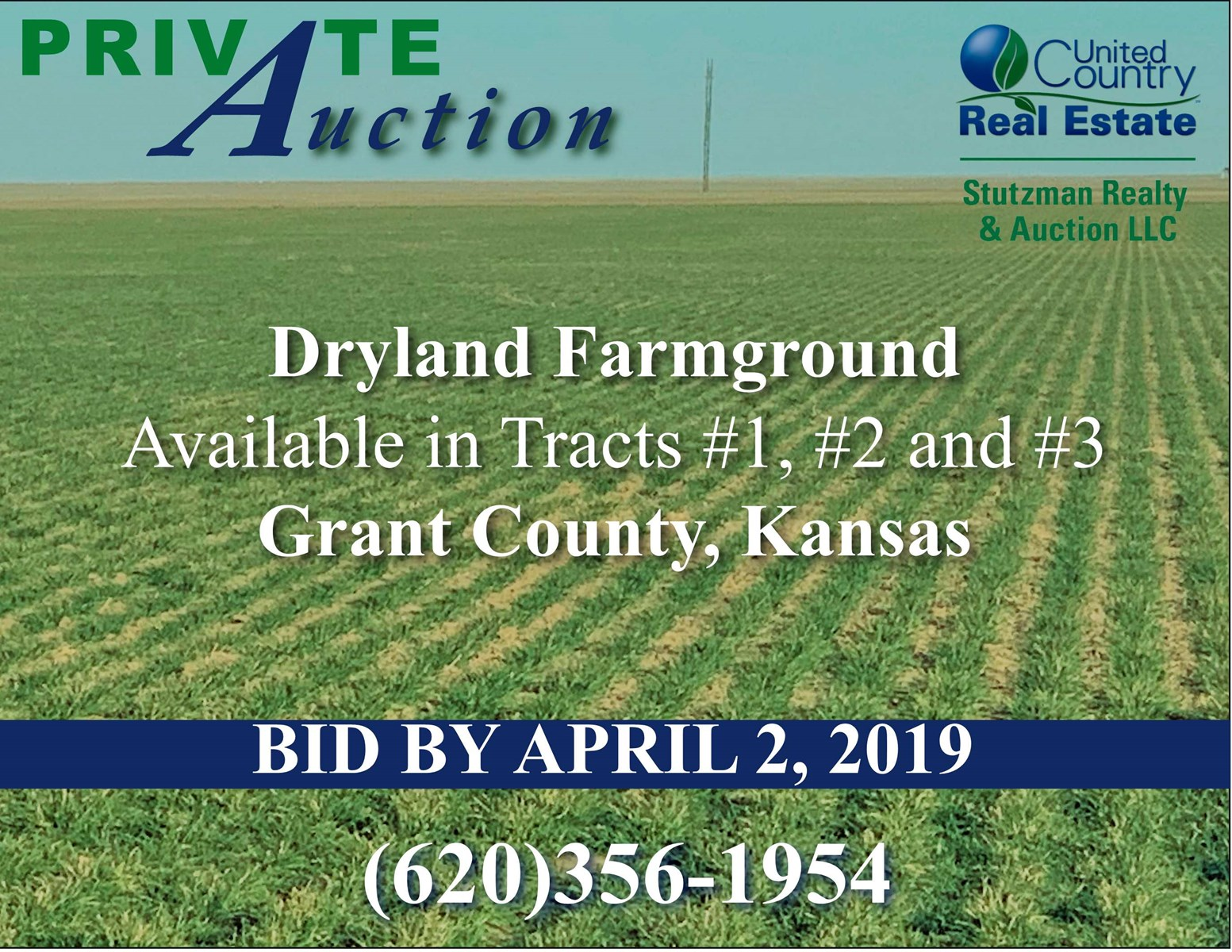 GRANT COUNTY, KS - 472 ACRE FARM LAND - PRIVATE AUCTION