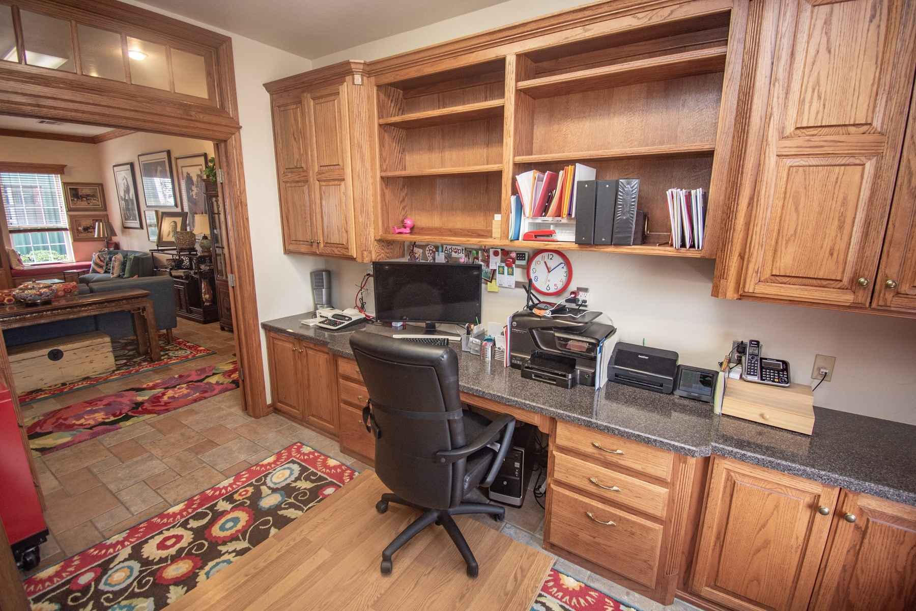 Office of family room.