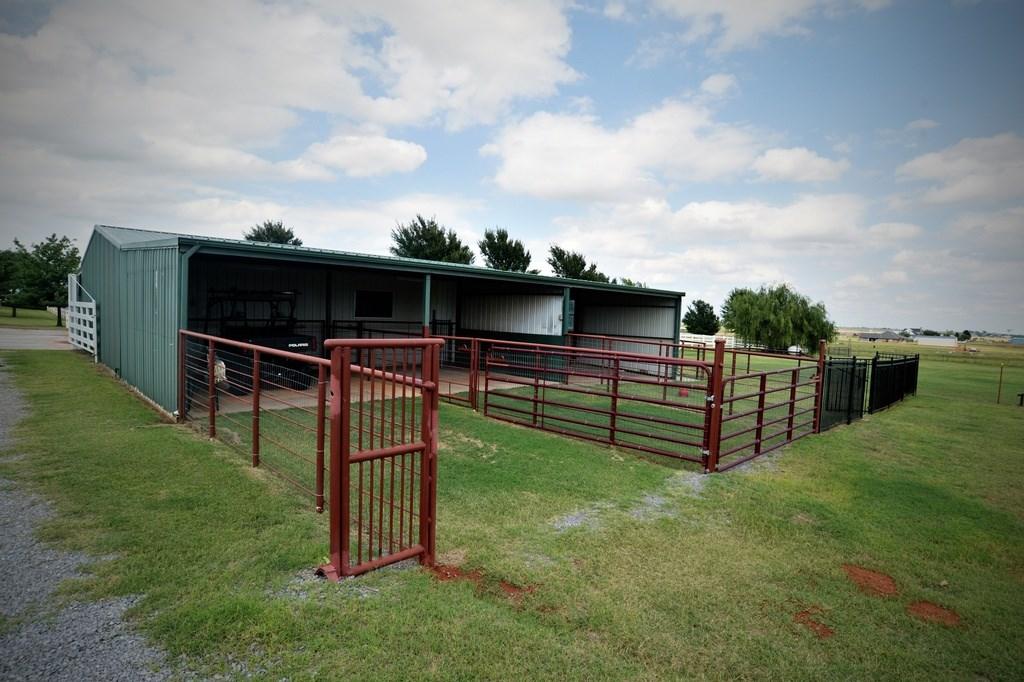 Horse stalls.
