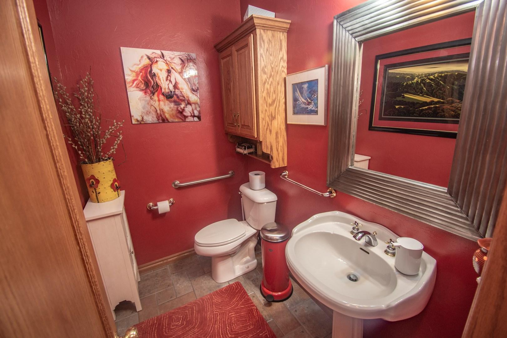 Powder bathroom.