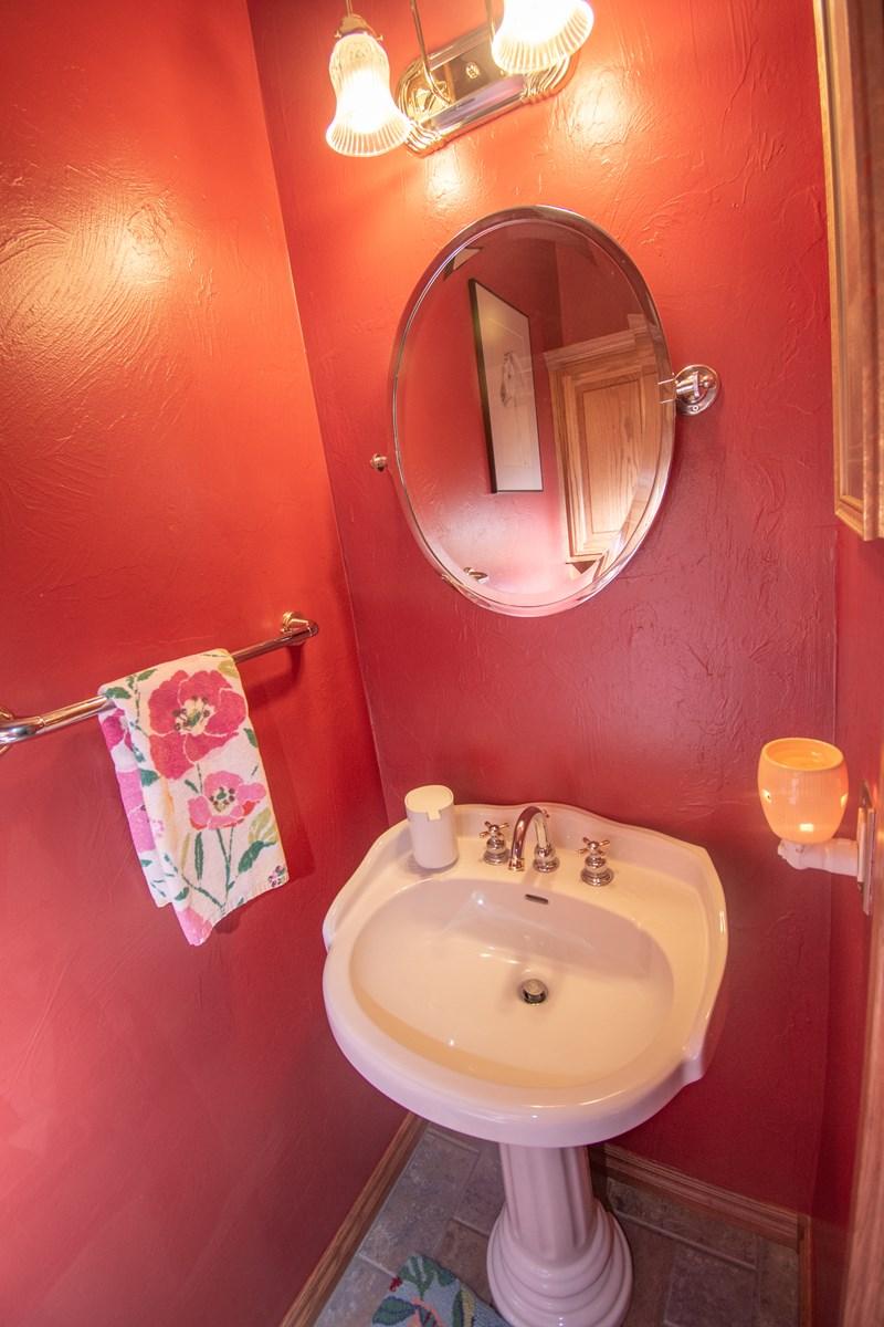 1/2 bathroom off office.