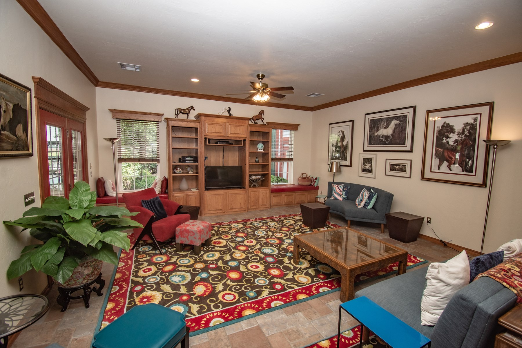 Large family room.