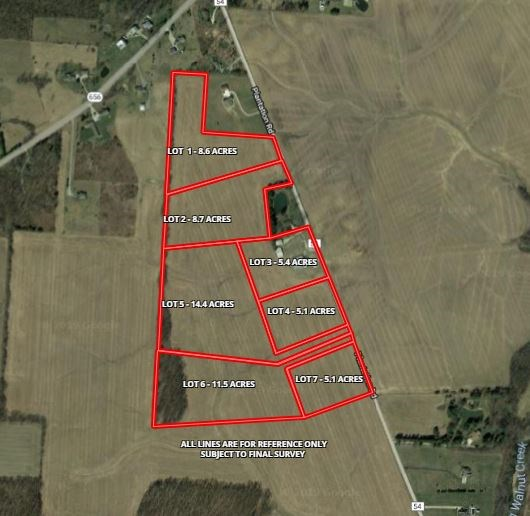 Delaware County Ohio Building Lot Rolling Terrain