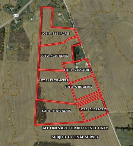 Delaware County Ohio Building Lot Rolling Terrain  10.000 ac