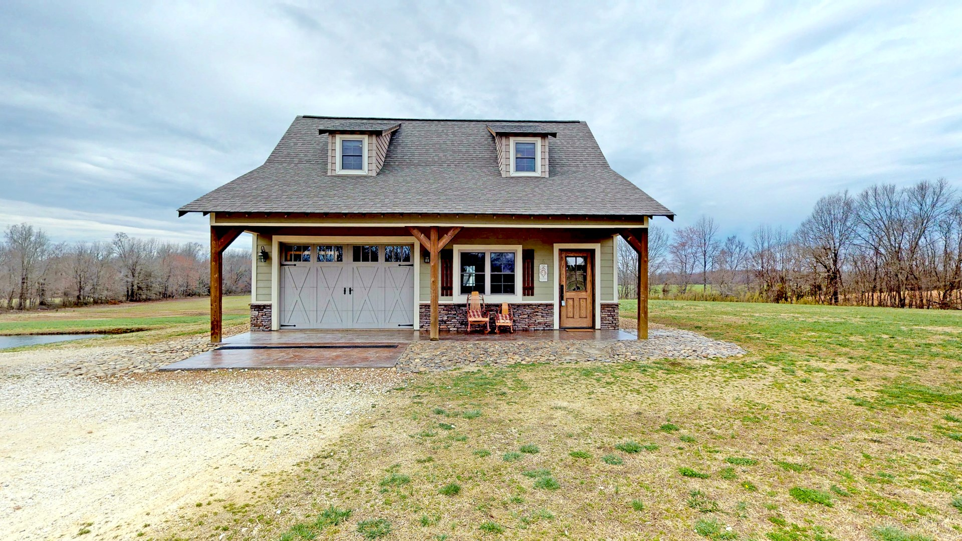 Tennessee Country Cabin For Sale, 5+ ACRES, Workshop / Pond