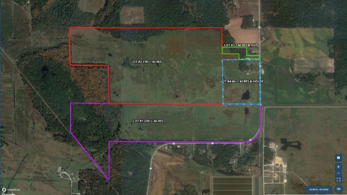 Juneau County WI 552+/- Acre Online Only Real Estate Auction