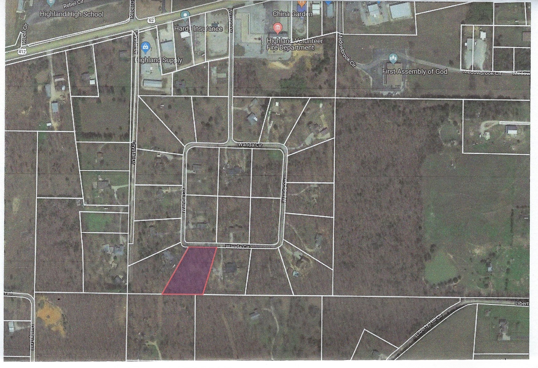 Building lot for sale in Arkansas