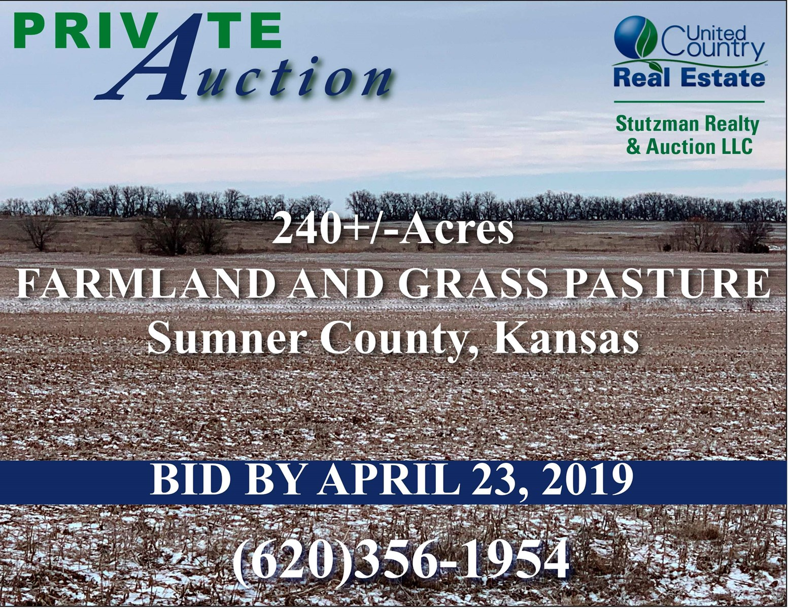 SUMNER COUNTY KS - PRIVATE AUCTION - 240+/- ACRES
