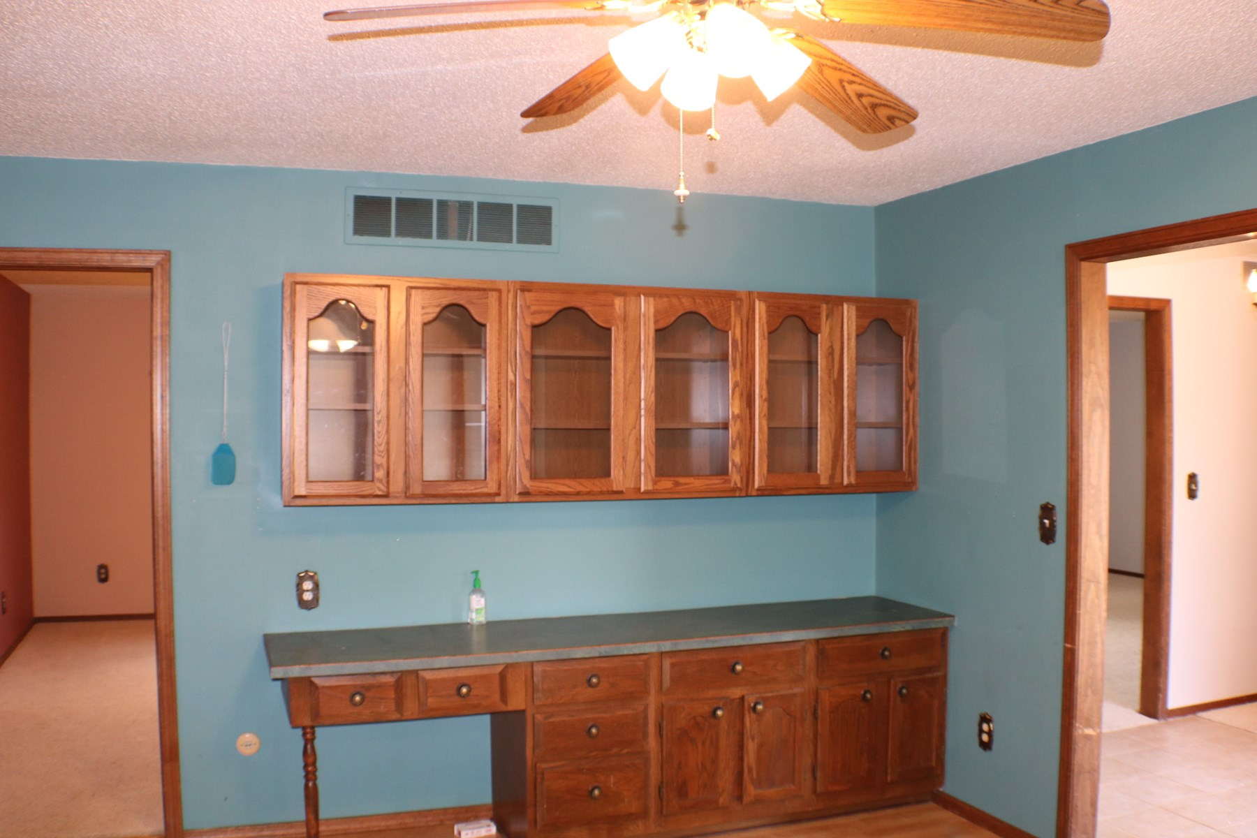 bar and cabinet dining room
