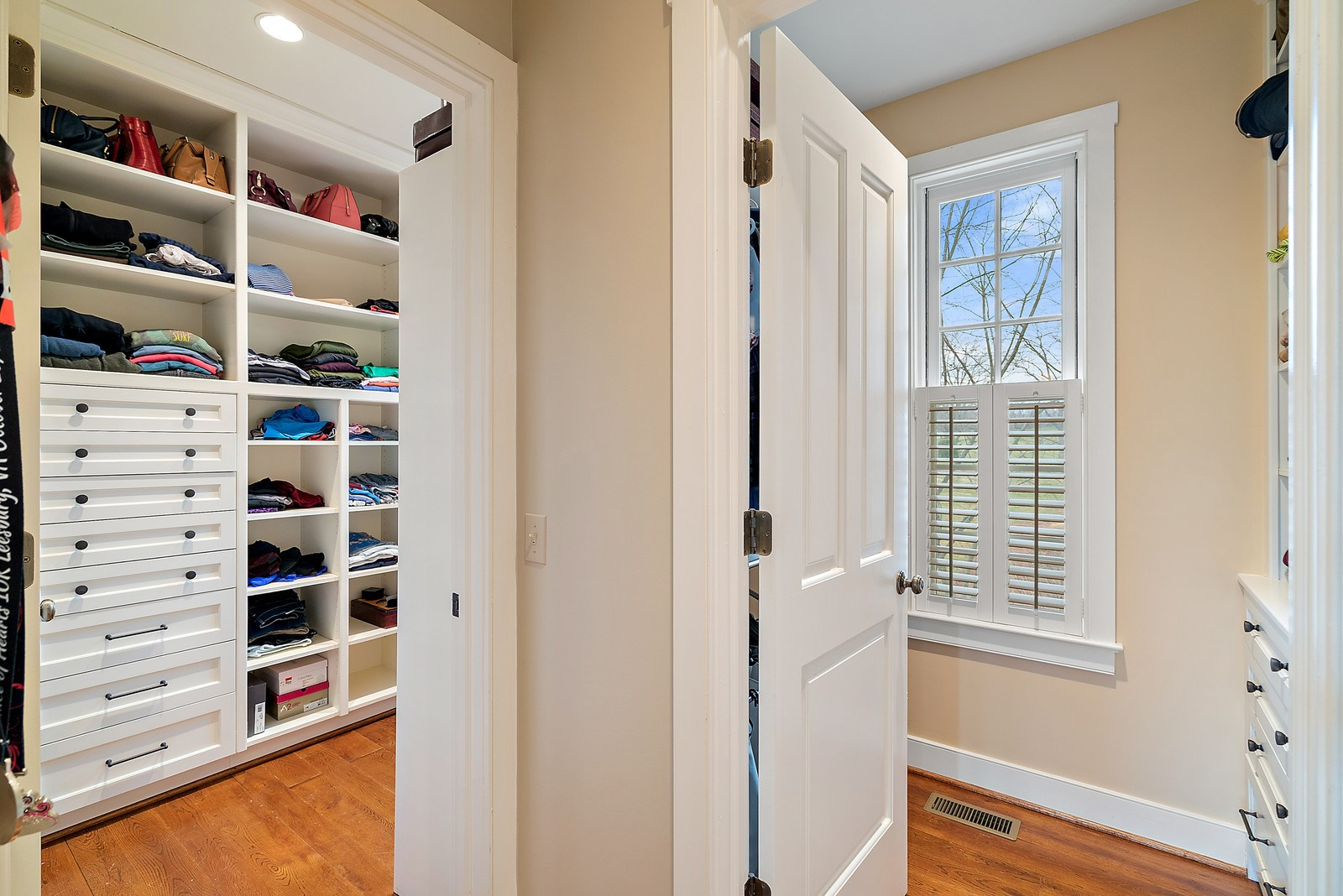 Closets in Master