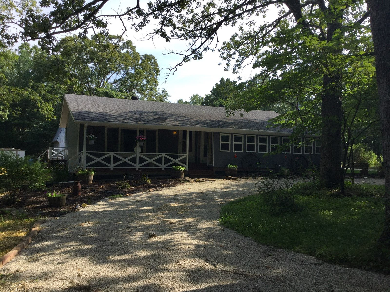 COUNTRY HOME w/30 ACRES ONLY 9 MILES FROM THE CURRENT RIVER!