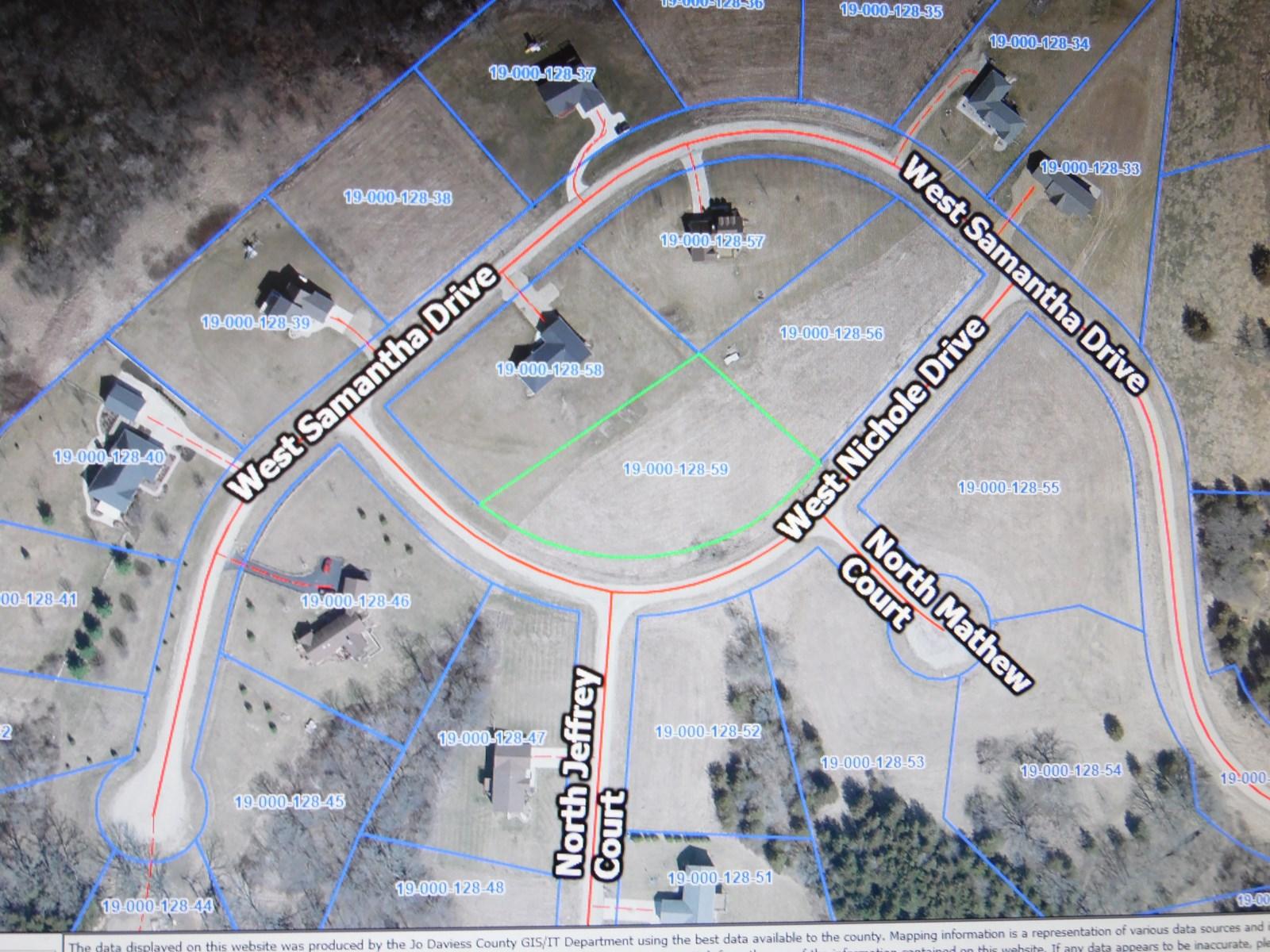 Lot in Wienen View Subdivision of High Ridge Road, Galena,IL