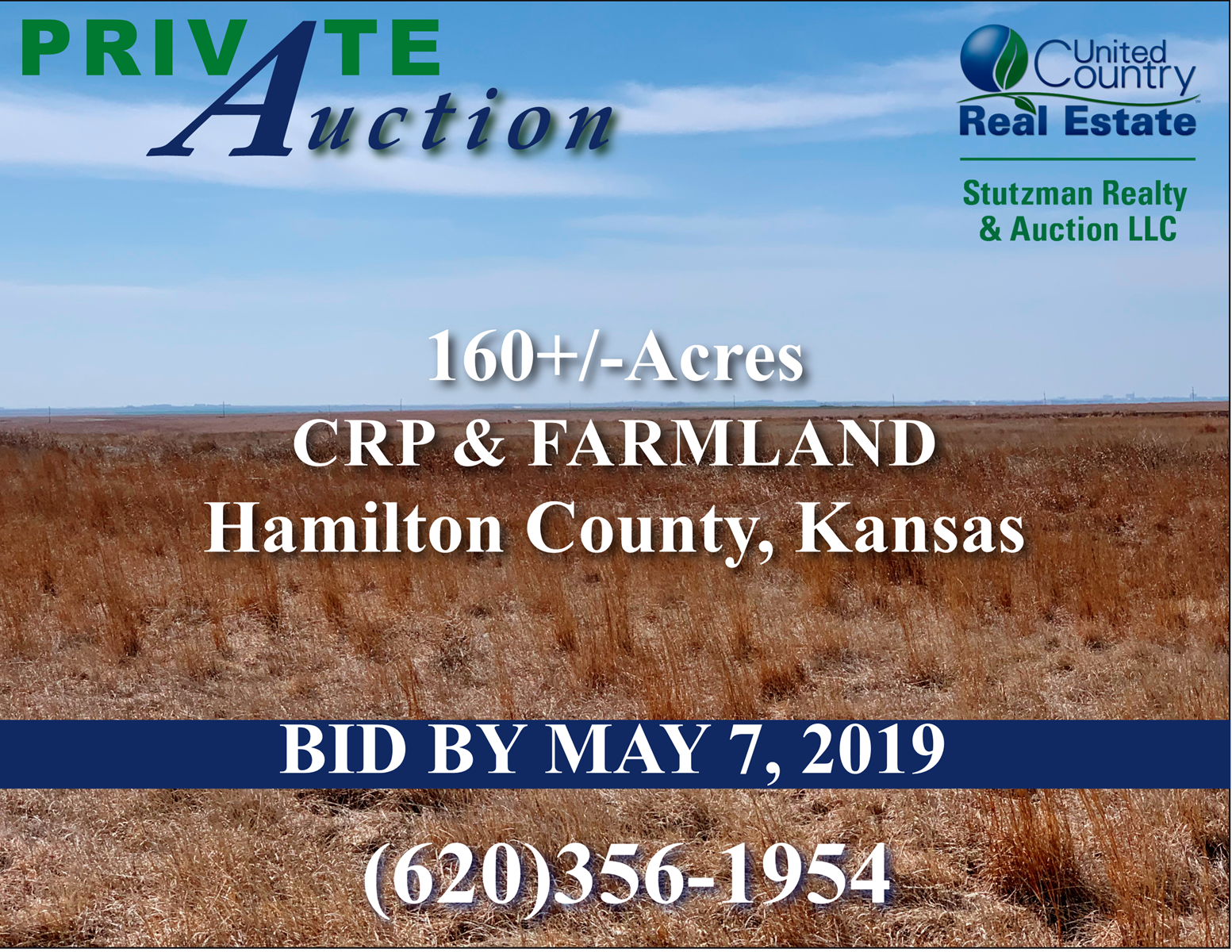 HAMILTON COUNTY, KS - 160 +/- ACRE - CRP & FARM -
