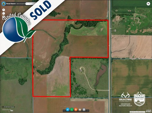 118± Acres of Farmland & Timber in Eastern Saline County KS