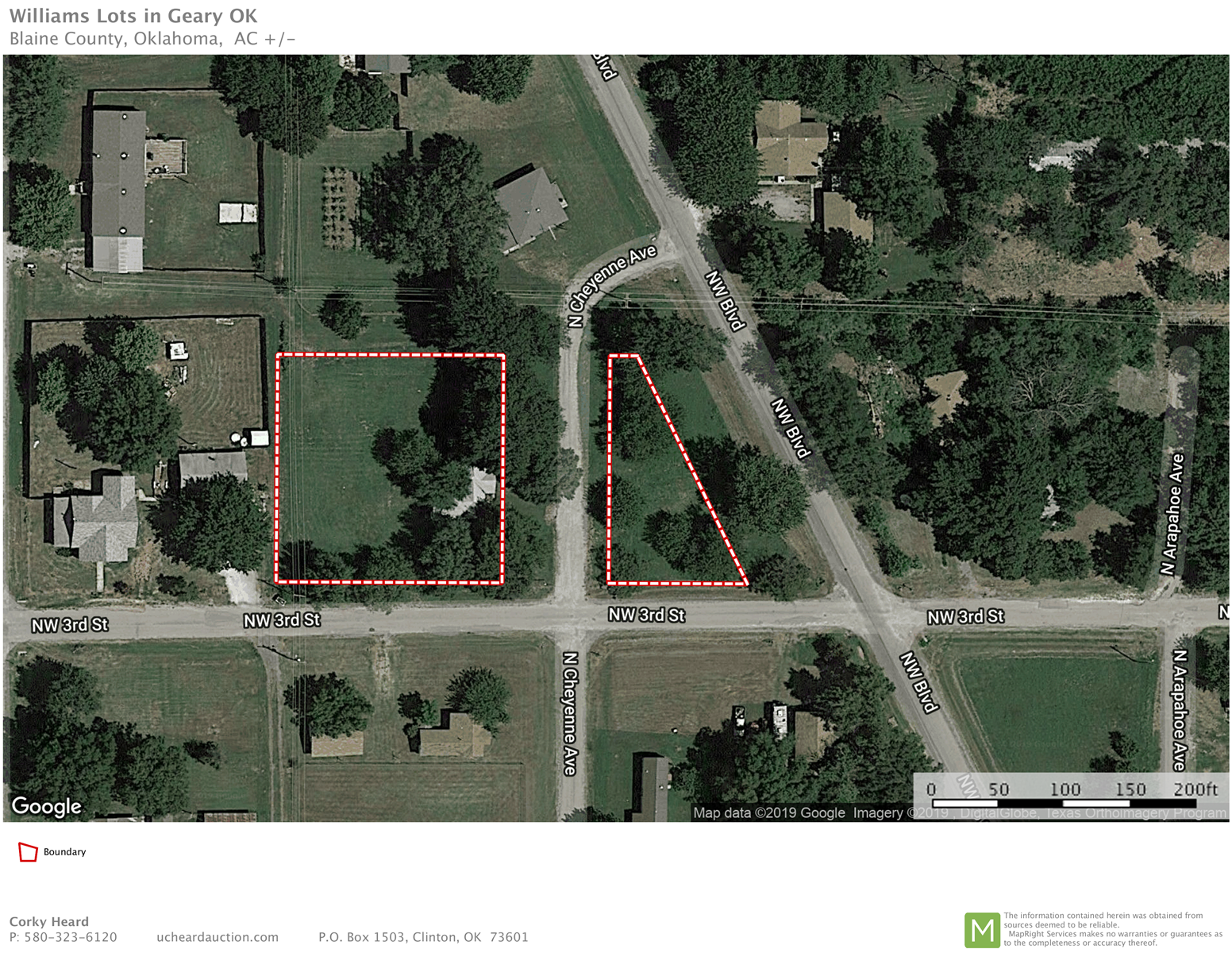 6 Residential Lots in Geary, OK FOR AUCTION.