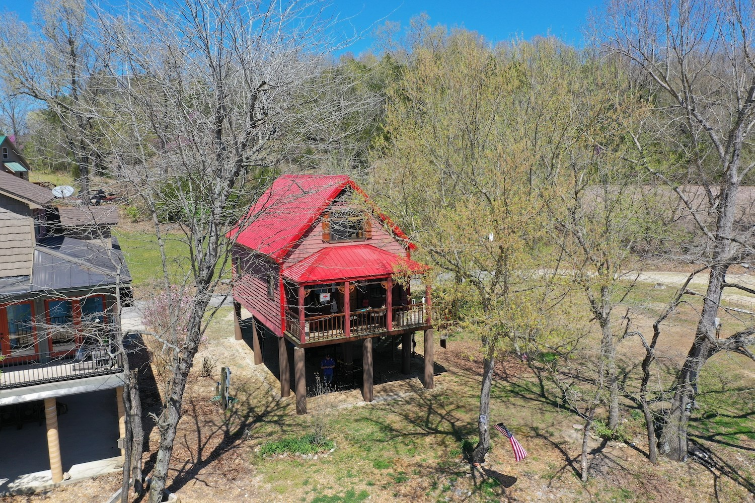 Spring River Cabin For Sale With River Frontage
