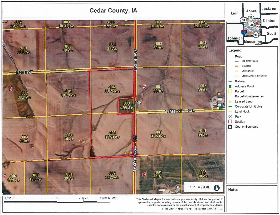72 acres M/L Cedar County, Iowa