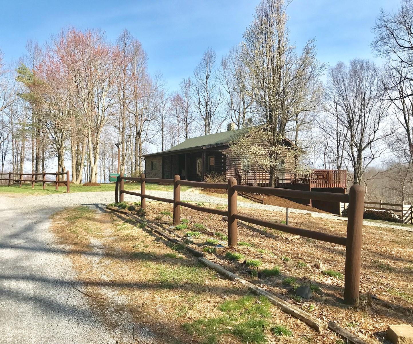 Log Cabin Home for Sale in Copper Hill VA!