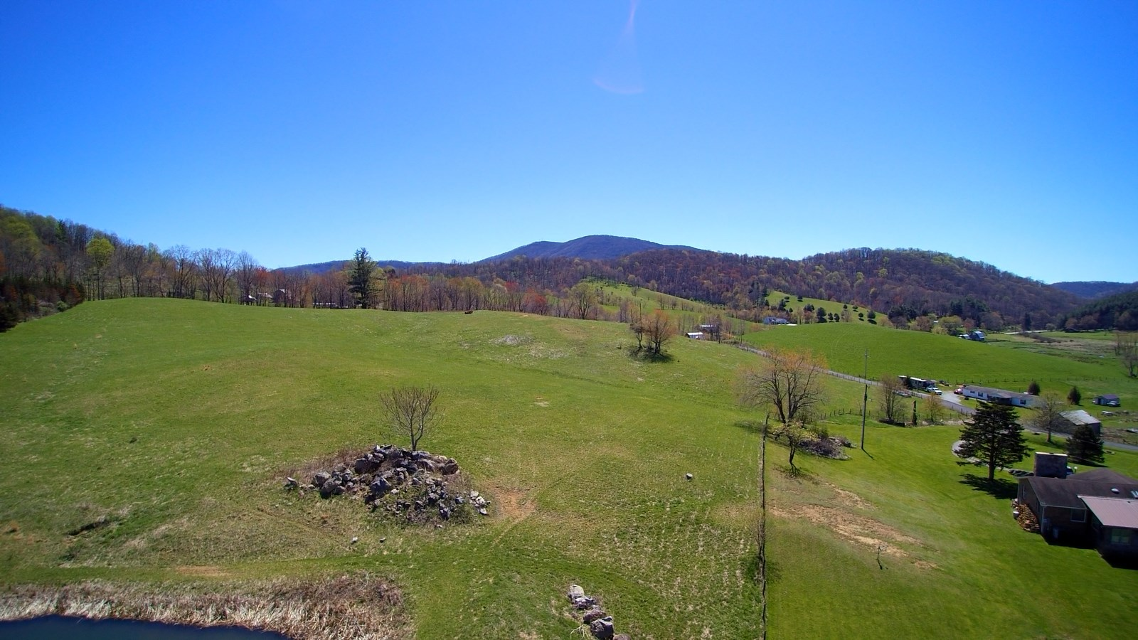 11 acres with Great Views in the Blue Ridge Mountains.