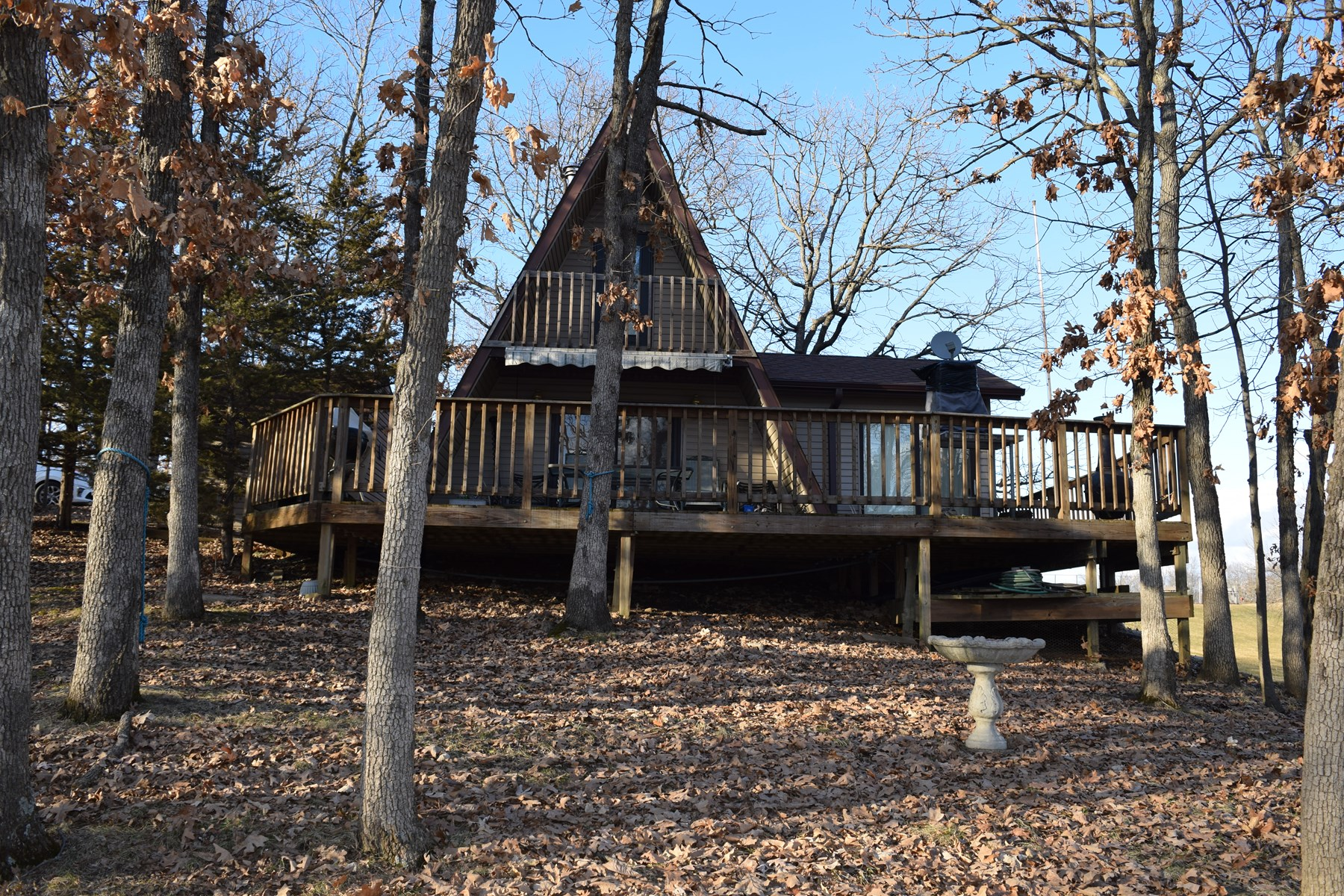 A-frame cabin with a view for sale at Lake Thunderhead