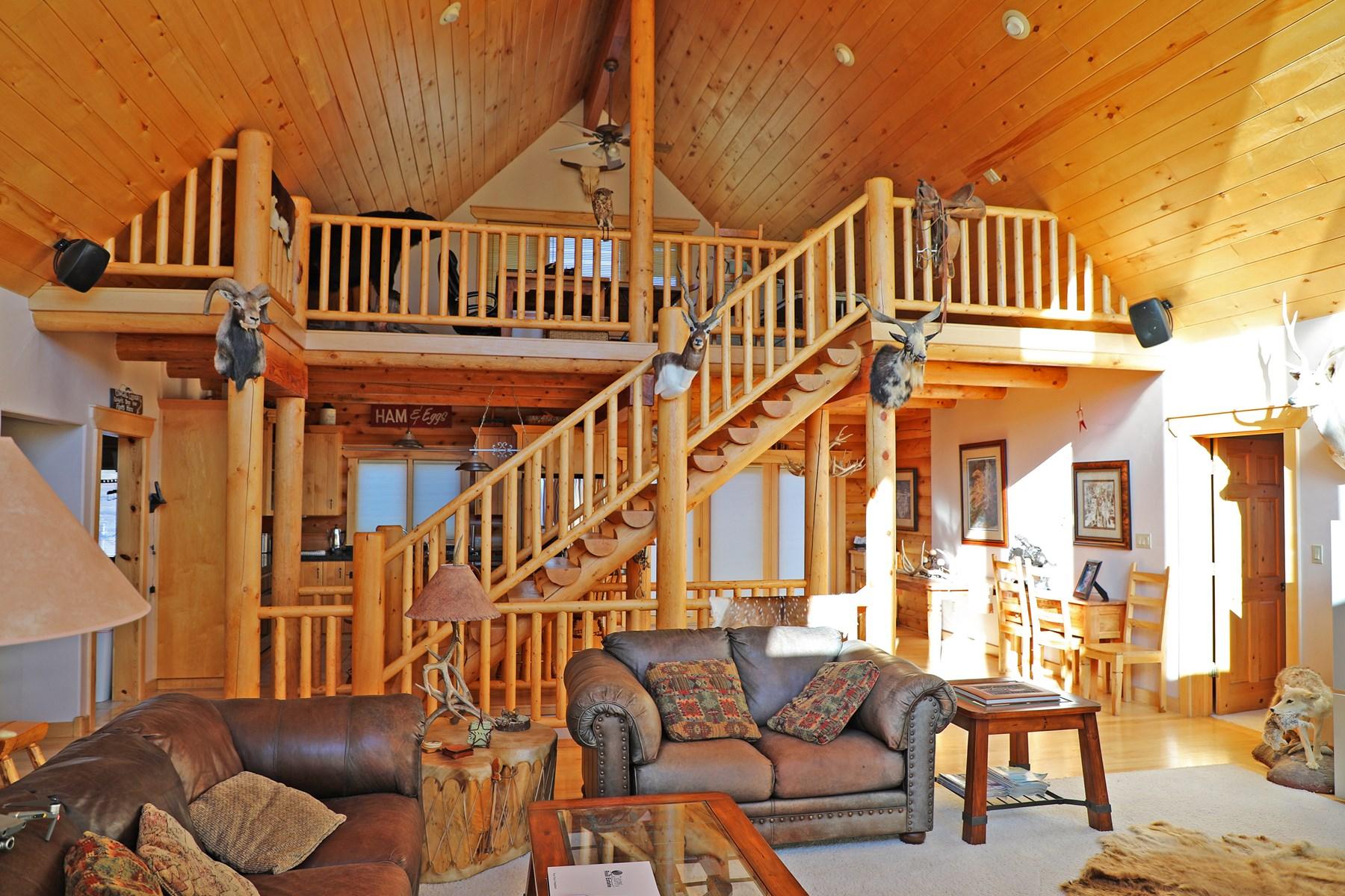 Custom log home for sale