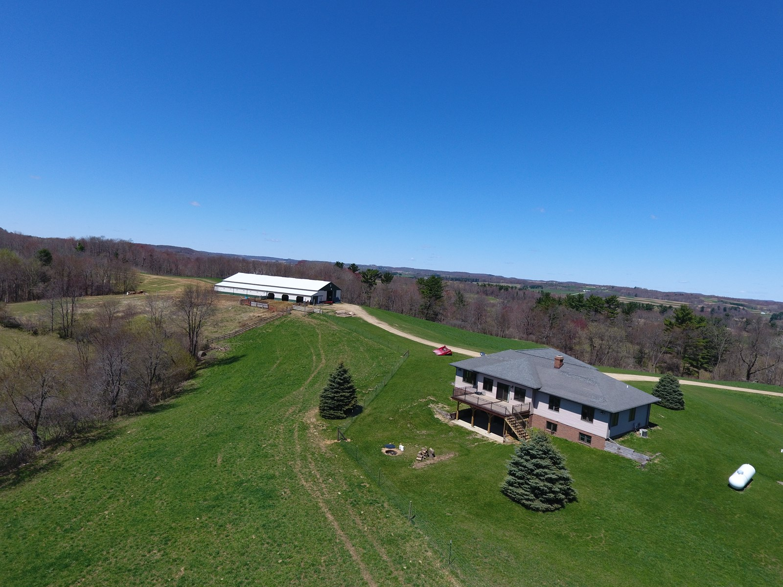 185.75 Acres Country Home, Hobby Farm, Horse Property