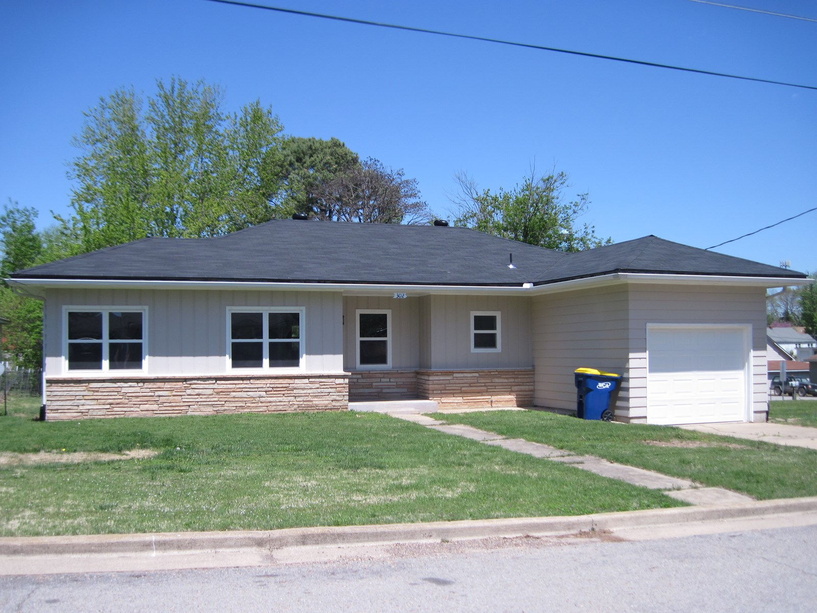 Cute remodeled home in town located on a large corner double