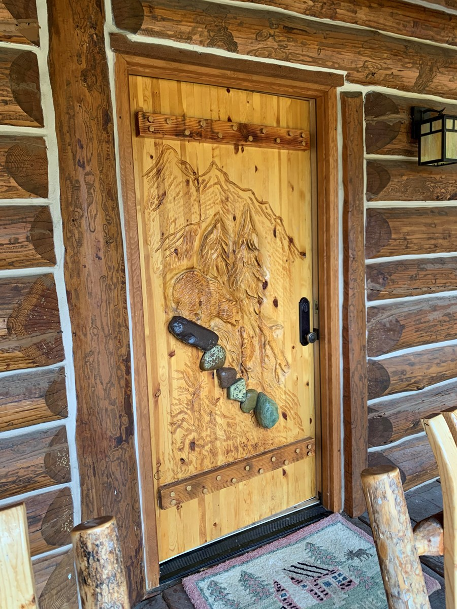 CARVED CABIN DOOR