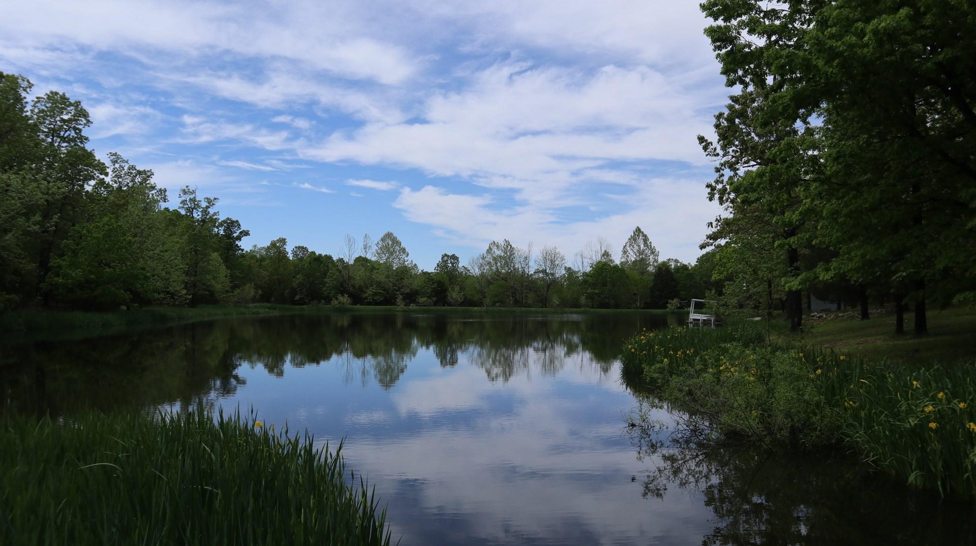 Secluded Ozarks Hobby Farm with Lake for Sale Near Salem