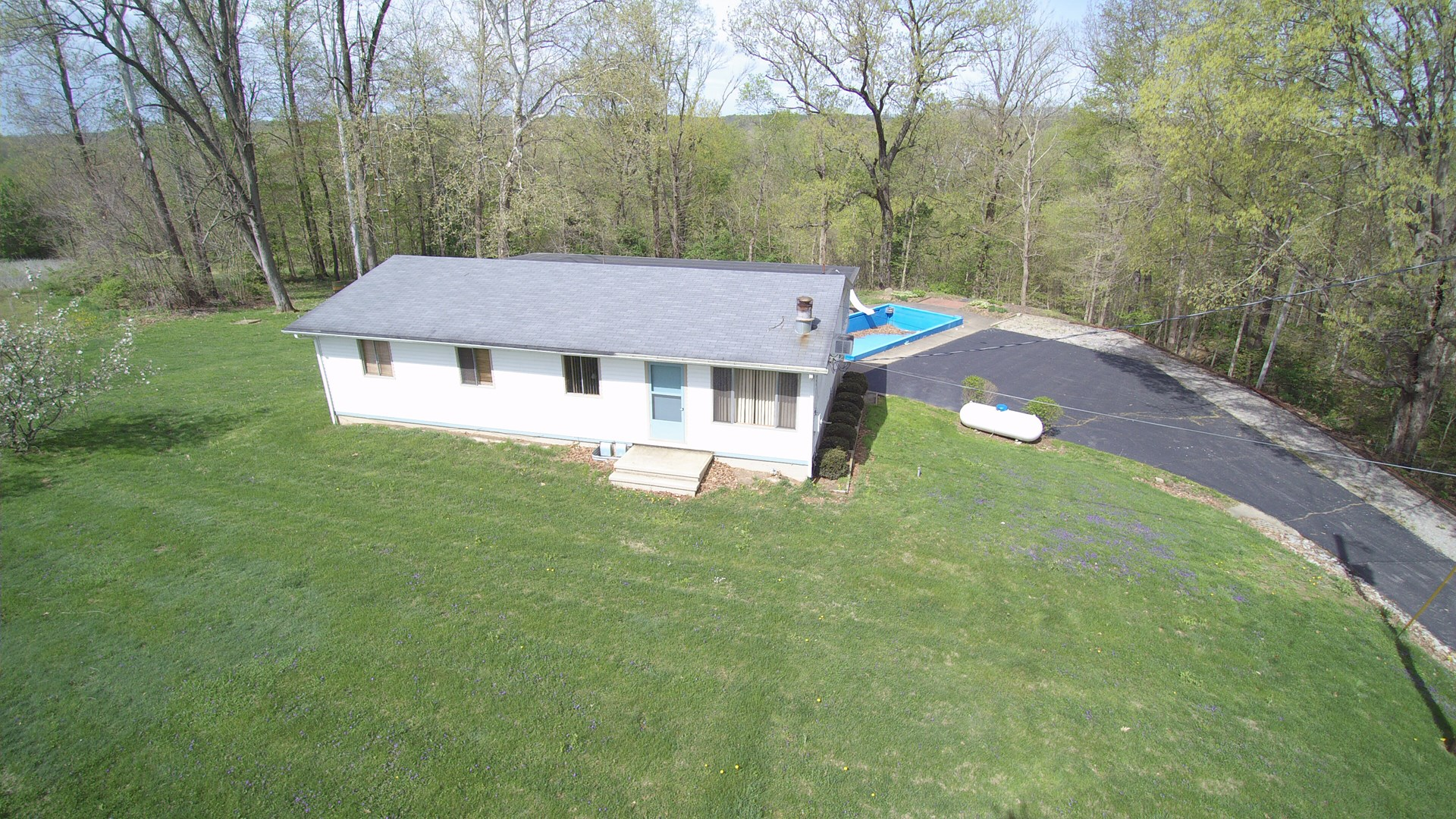 Muskingum River Frontage | Tract 2 | 27 +/- Acres | Ranch Home w/Walkout & Pool