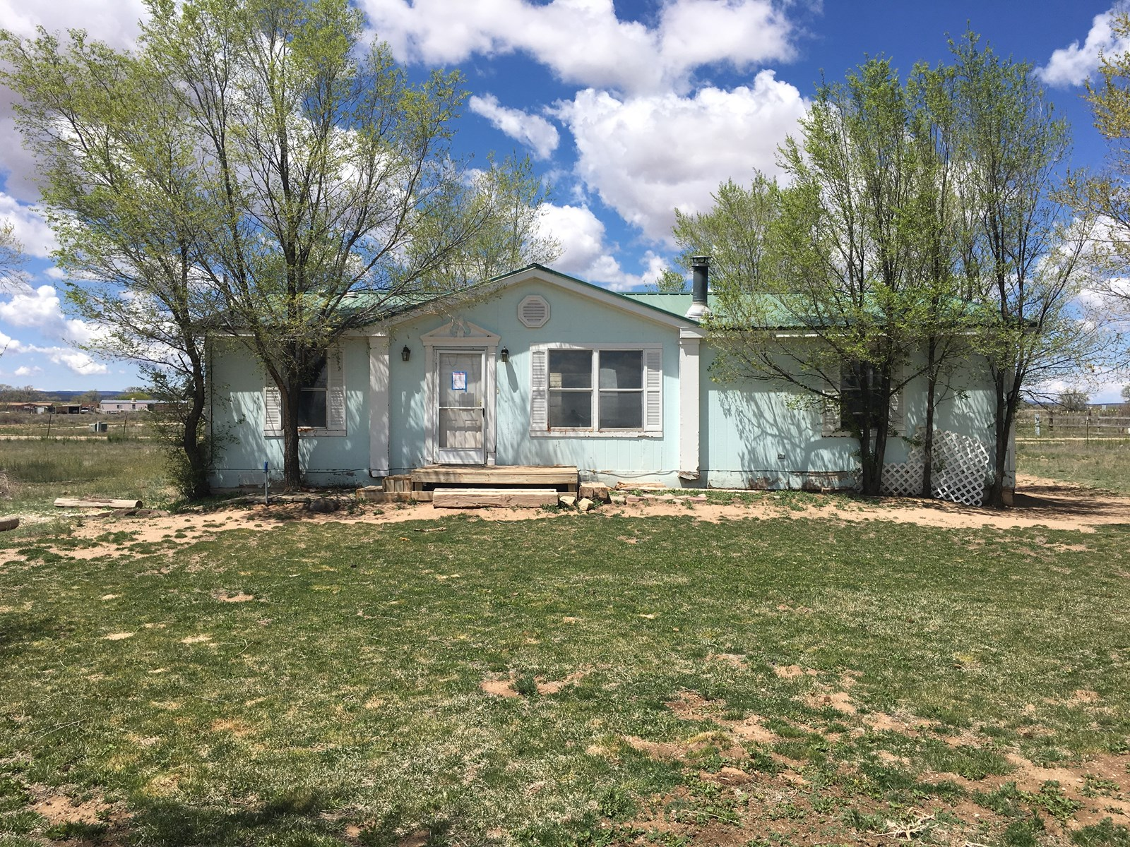 Central NM For Sale Manufactured Home with Acreage and Barn