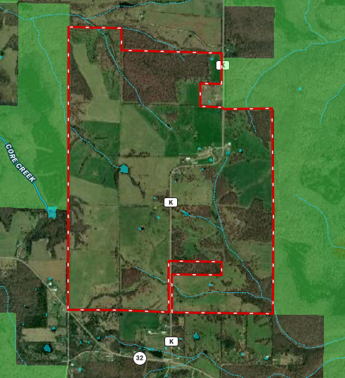 Missouri Cattle Ranch For Sale Bordering National Forest