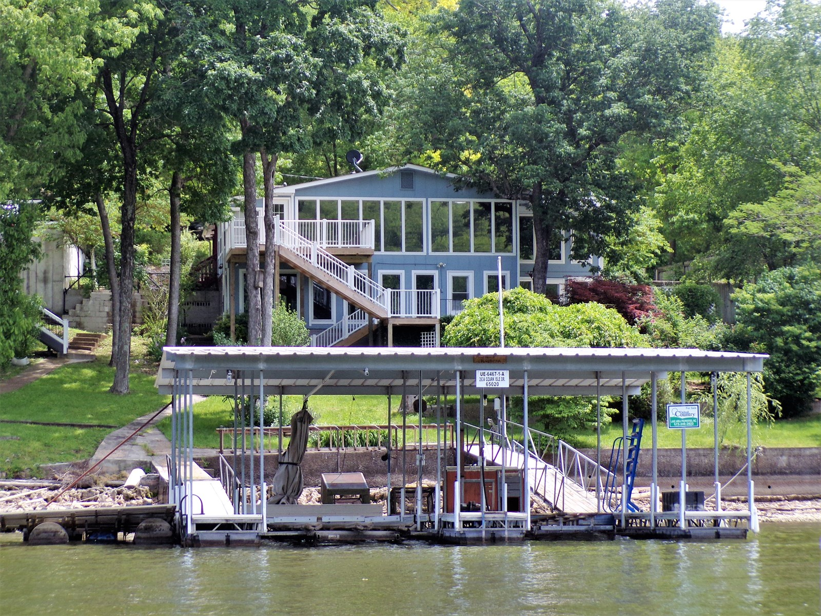 Waterfront home at Lake of the Ozarks
