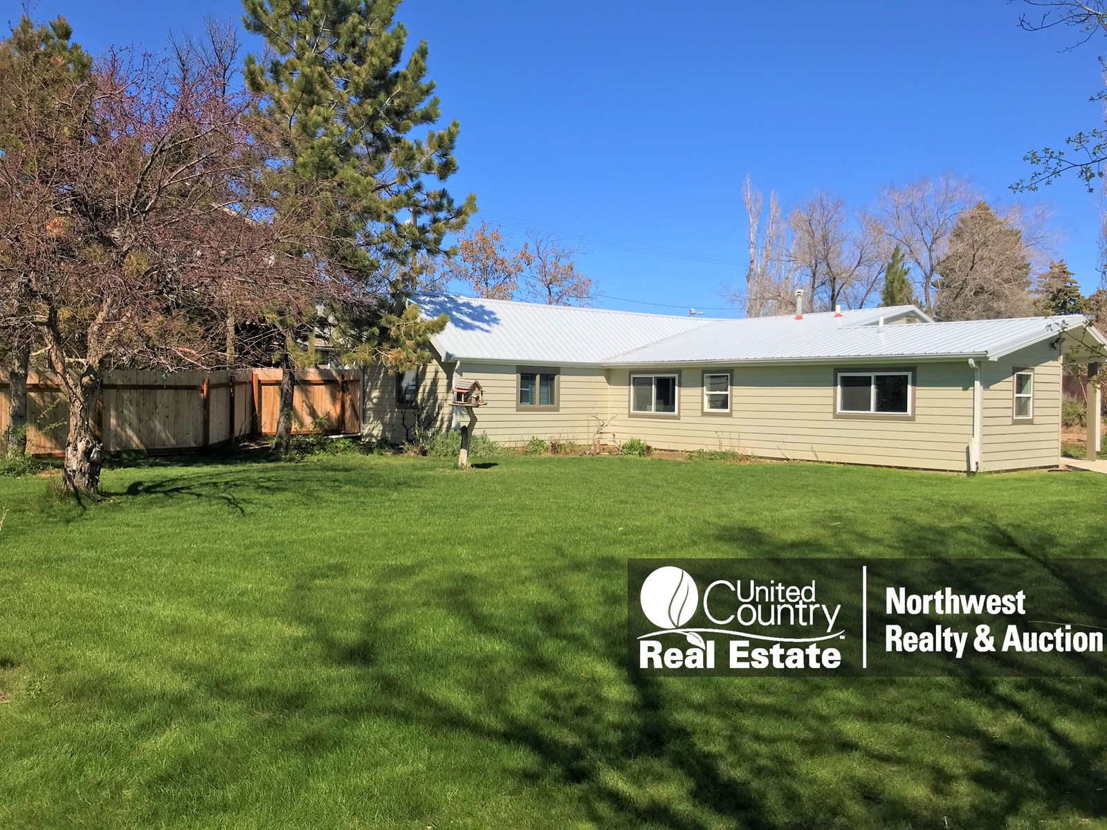 Malta MT Small Acreage Private 1 Level Home Landscaped Yard