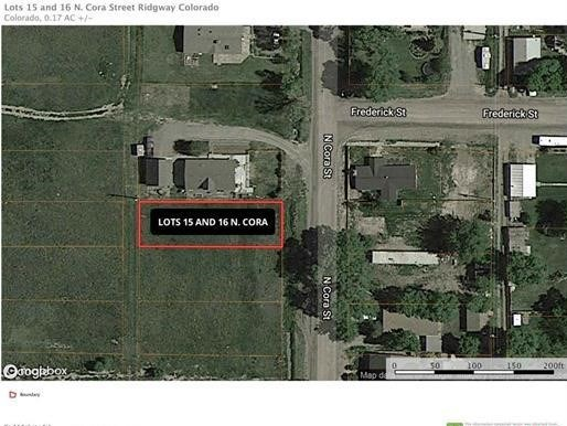 Two Lots For Sale in Town Ridgway Colorado