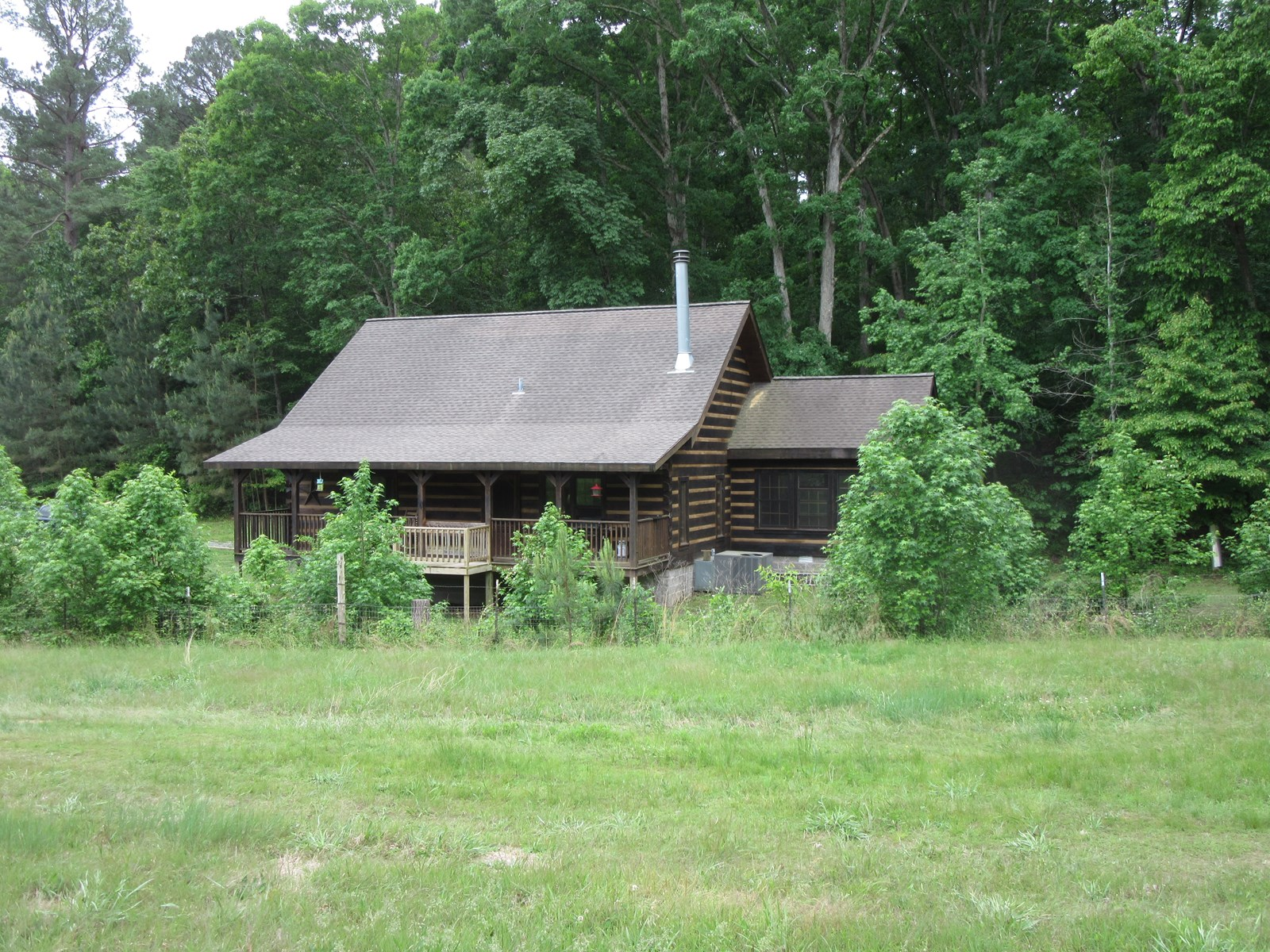 Log home with Lake access  15.2 ac with Horse Barn