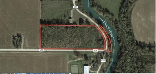 6 +/- Acres Land With Timber and Black River Frontage