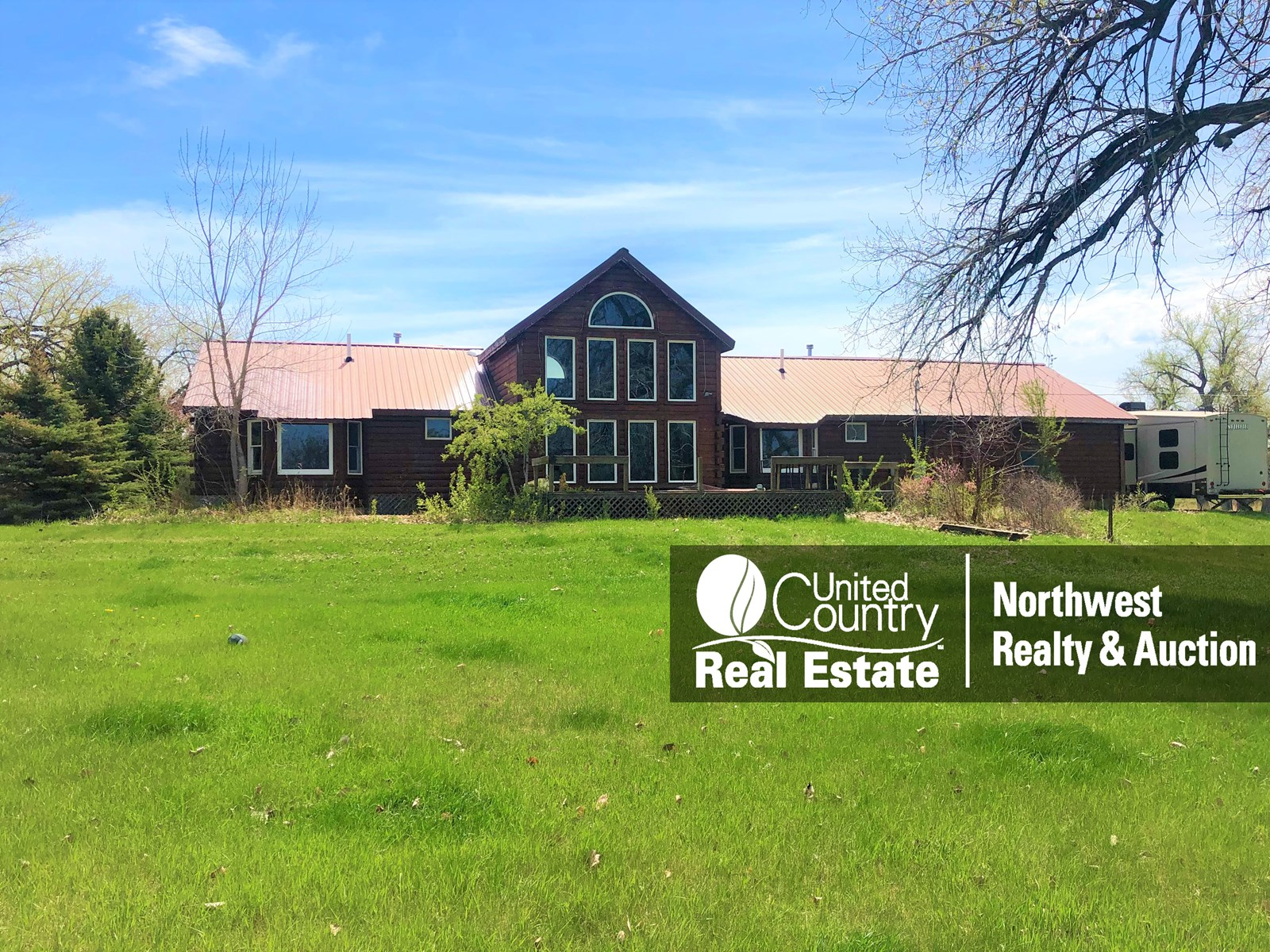 MT Log Home For Sale, Irrigated Farm Land, Grazing, Shop