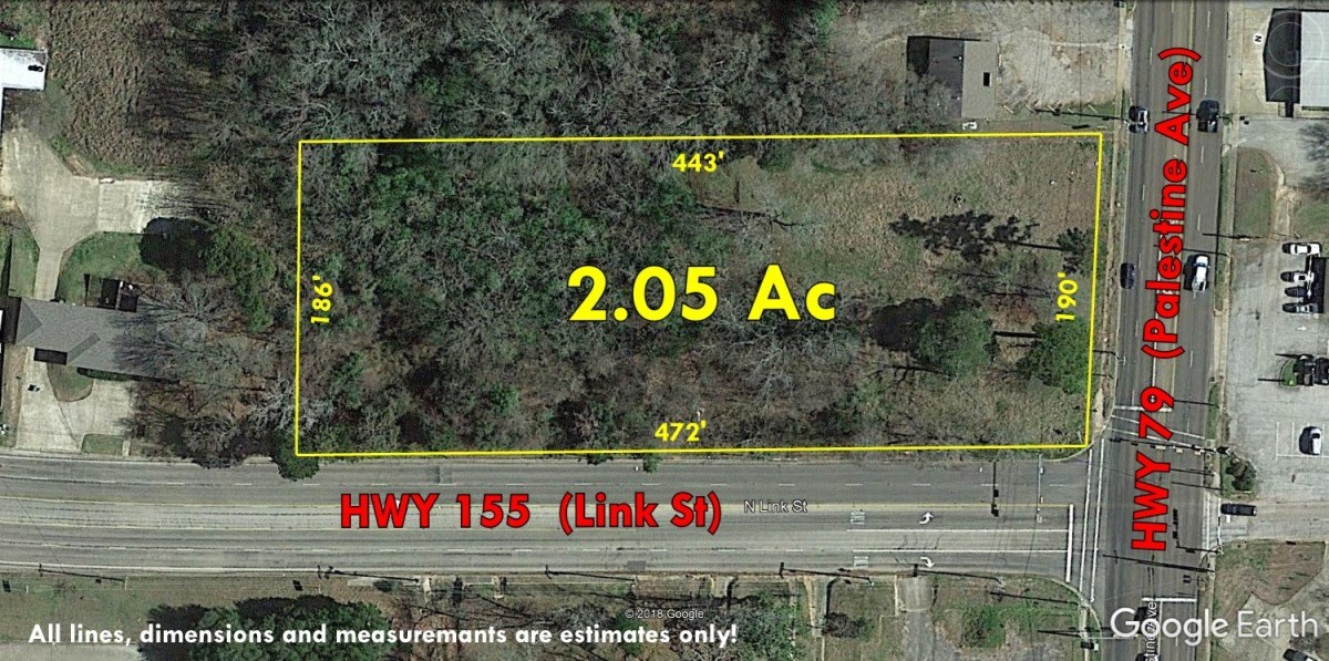 VACANT COMMERCIAL LAND FOR SALE PALESTINE TX | ACRES IN TOWN