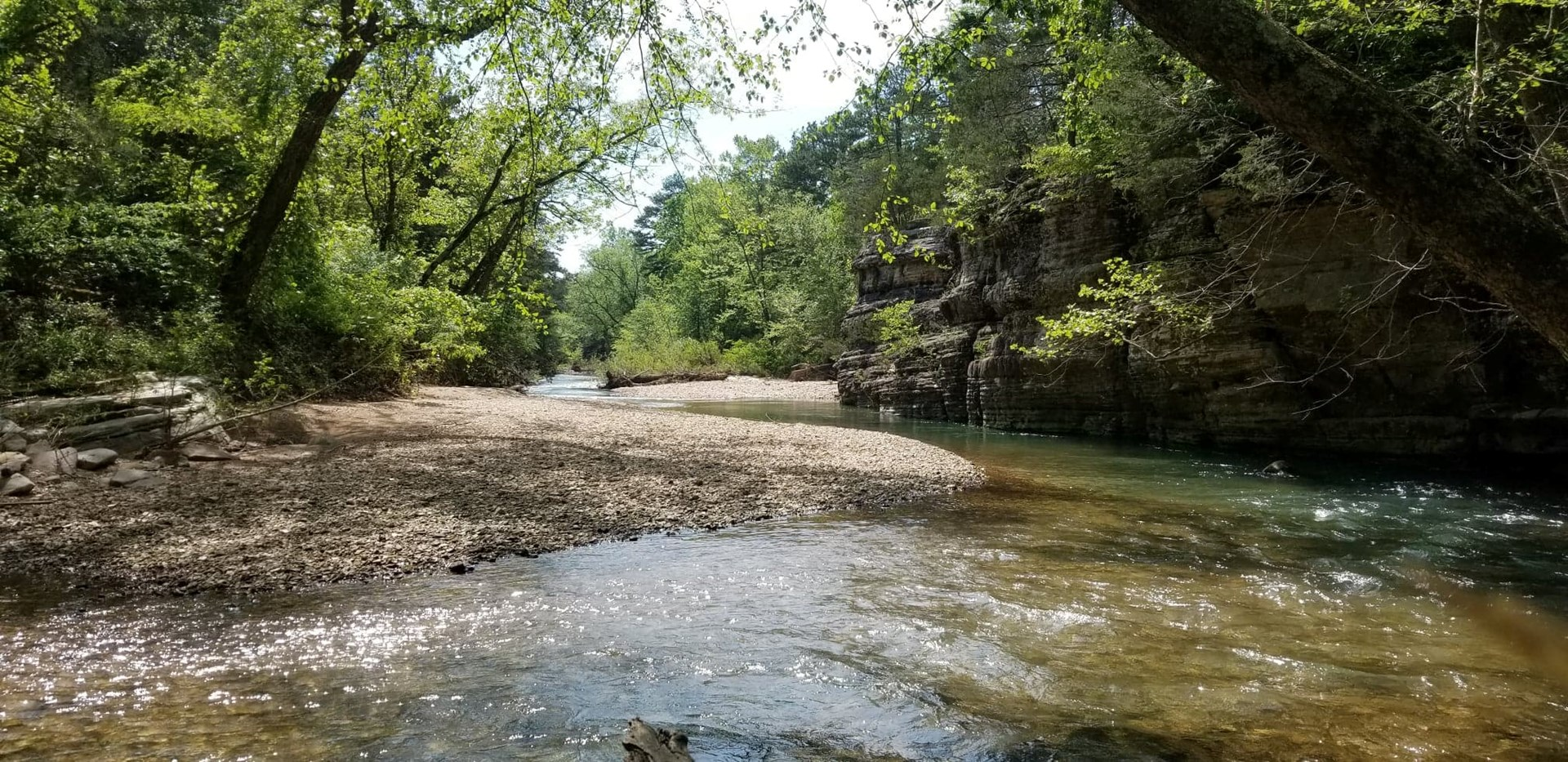 Creek front home & land for sale in Carroll County, Arkansas