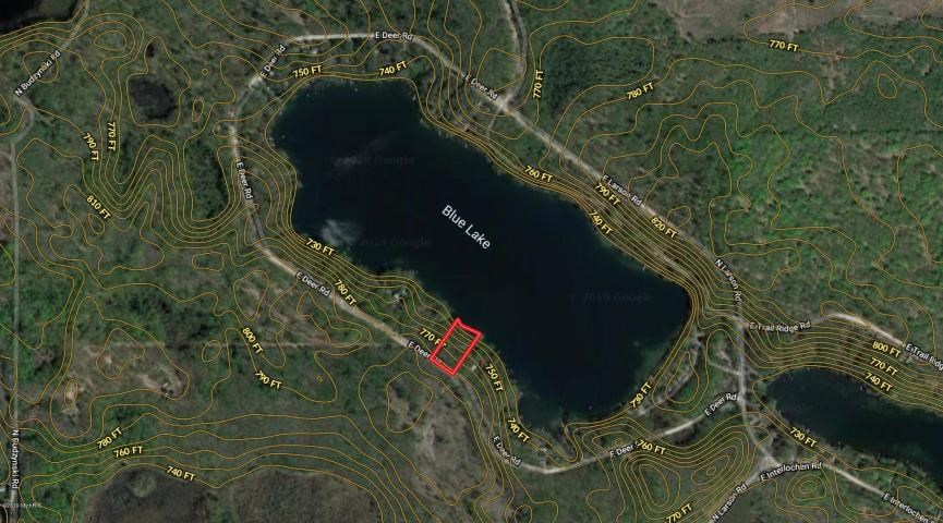 Buildable waterfront lot on Blue Lake in NW MI