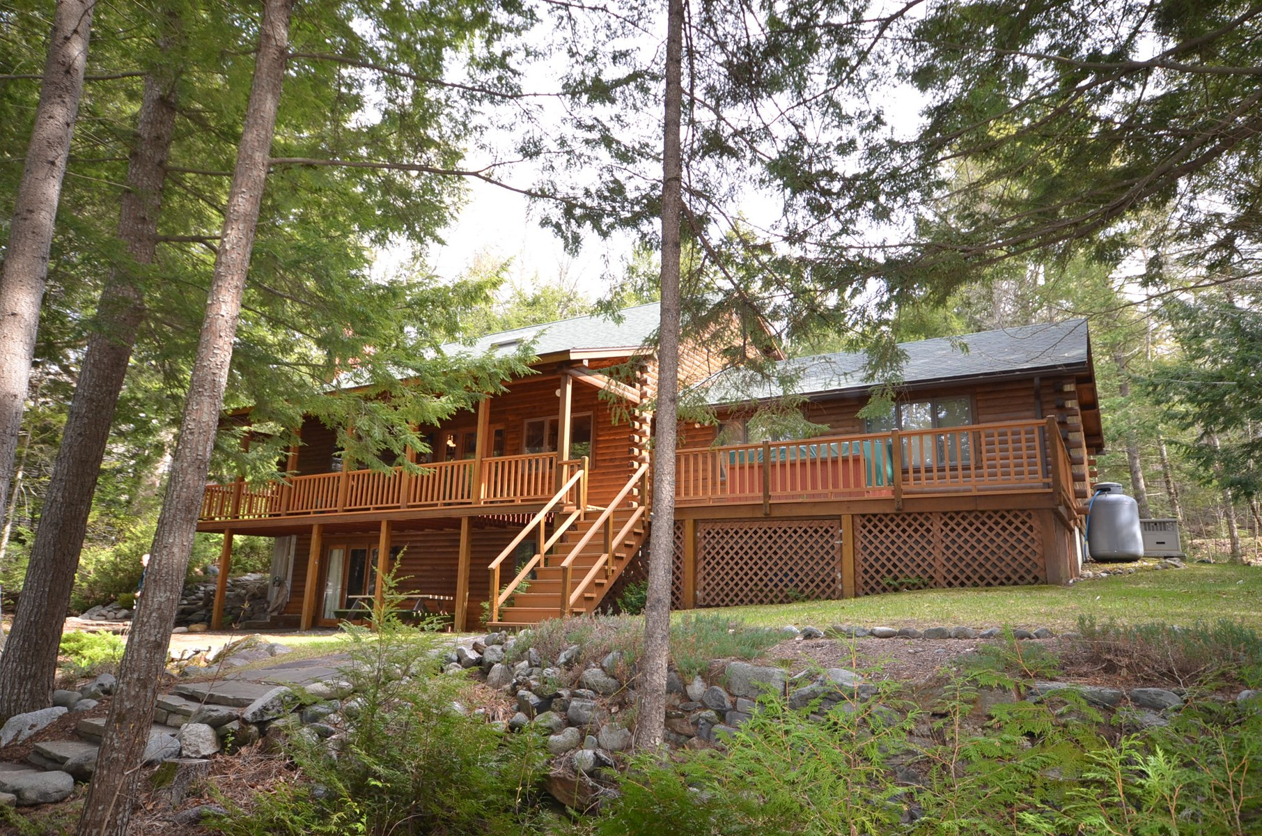 Log Home for Sale in Lowell, Maine
