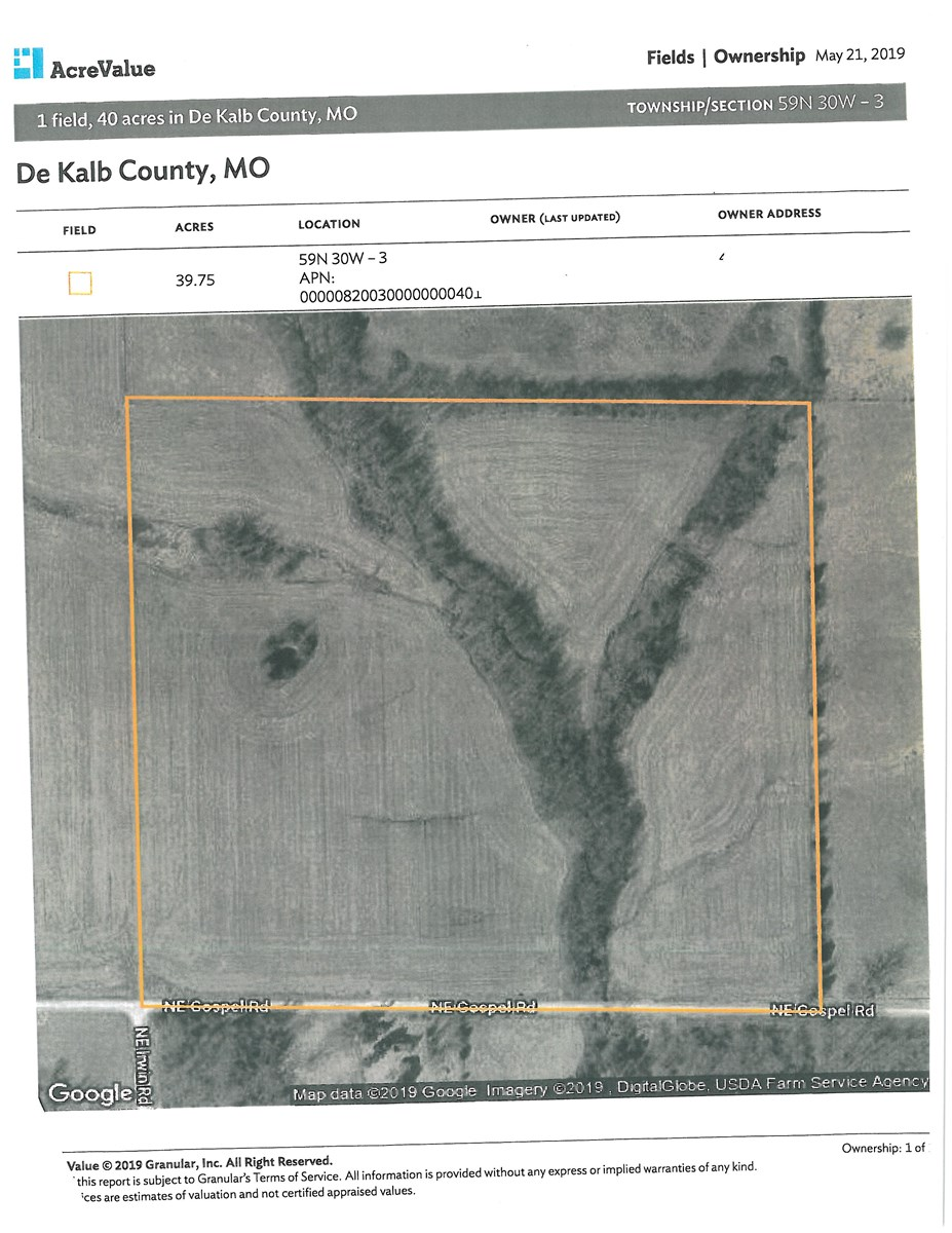 DEKALB COUNTY MO 40 ACRES FOR SALE