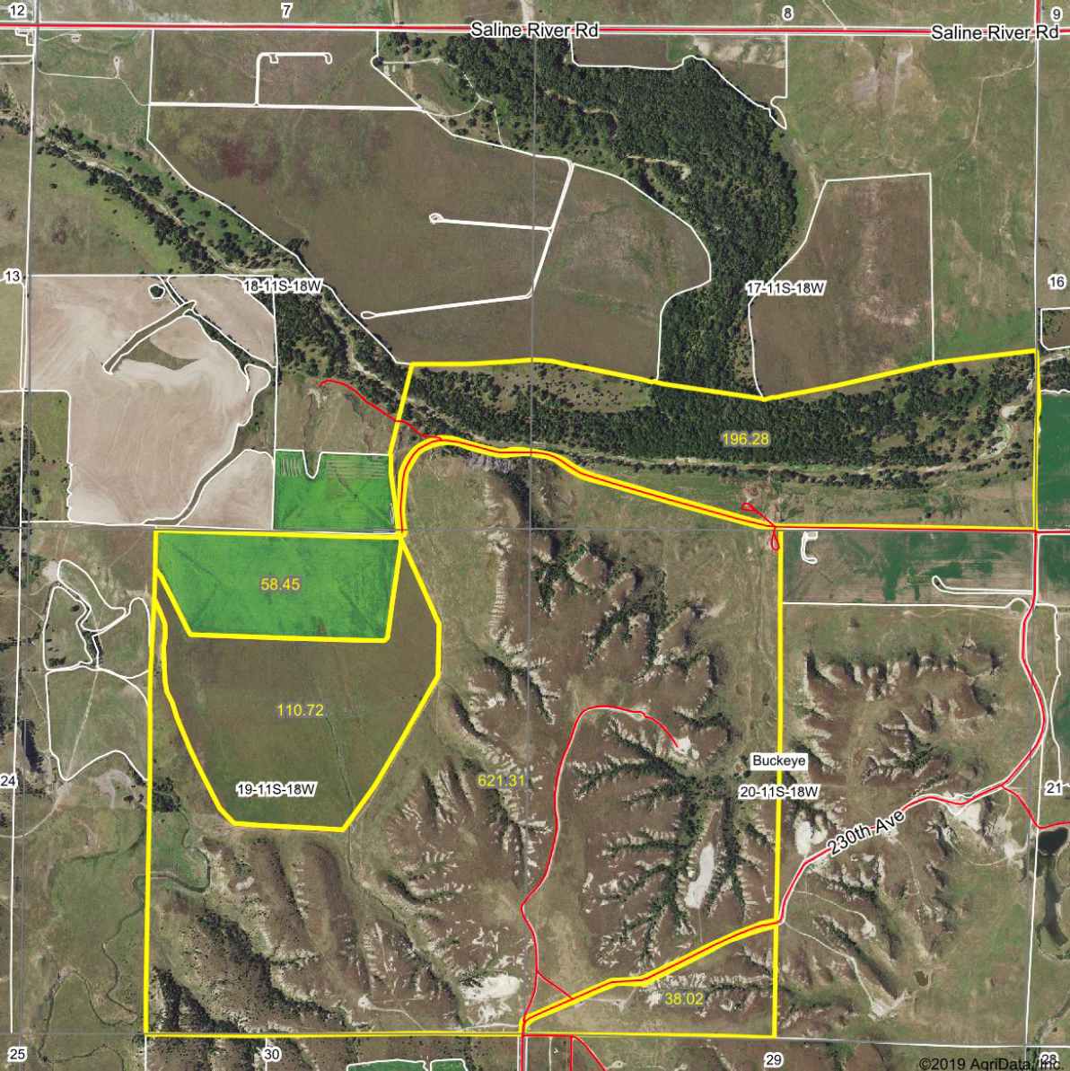 Sealed Bid Auction - 1,024± Acres of Hunting Land, Pasture, CRP & Mineral Rights in Ellis County, Kansas