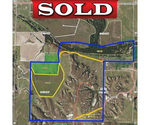 1,024± Acres of Hunting Land & Minerals in Kansas For Sale