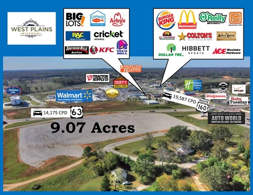 Prime Commercial Property Highway 63 Frontage West Plains MO