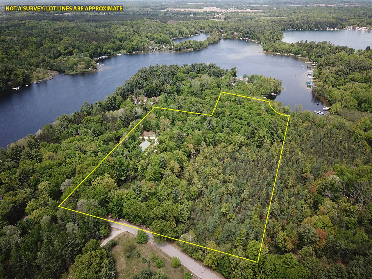 Chain O' Lakes Land For Sale on Long Lake + Garage - Hunting