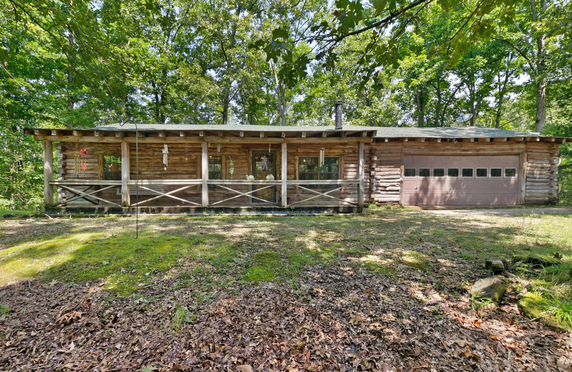 Tennessee Log Cabin For Sale - Wooded Lot, Lake Access