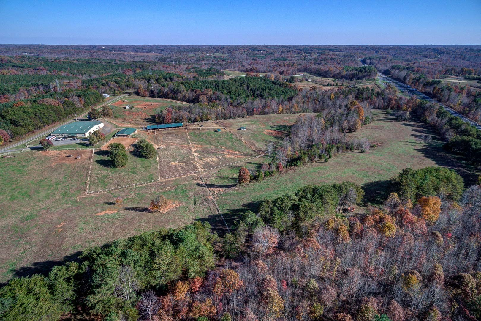 Horse Farm in Pinnacle, NC on 47.8 Acres +/- with Log Cabin